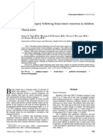Epilepsy Surgery Following Brain Tumor Resection in Children