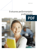 Evaluarea performantelor profesionale