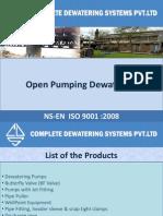 Dewatering Pumps, Open pumping dewatering