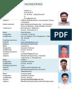 Faculty List