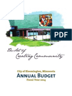 City of Bloomington, Minnesota Annual Budget - Fiscal Year 2014