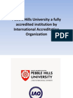 Pebble Hills University a Fully Accredited Institution by International Accreditation Organization