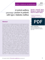Peripheral and central auditory pathways function in patients with type 2 diabetes mellitus