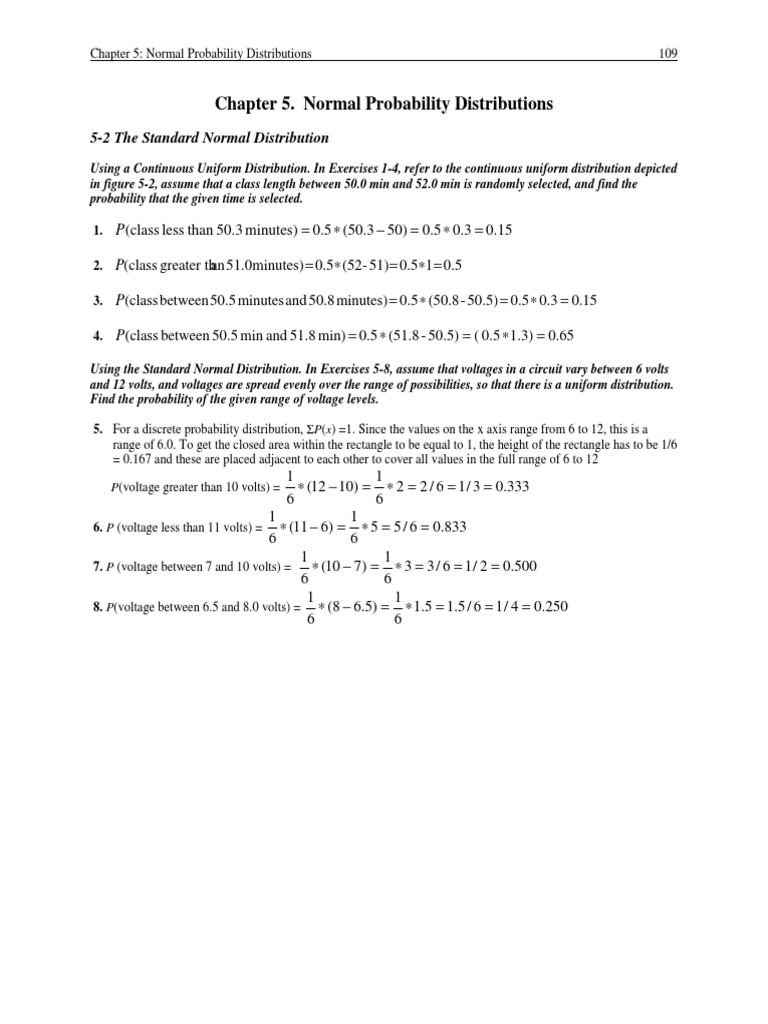 Chapter 5 Norchapter 5 Normal Probability Distributionspdfmal Probability  Distributions Mean Normal Distribution How To Find