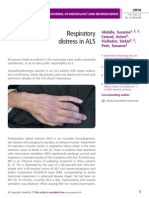 Respiratory  distress in ALS