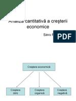 Analiza cresterii economice
