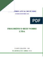 Relatório Anual Do Pcmso - 2014 - Beef Nobre