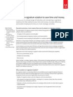 Adobe EchoSign - Using an e-signature solution to save time and money