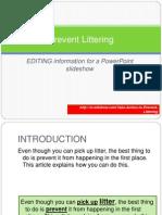 Prevent Littering Slideshow