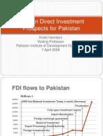 Fdi Prospects Pakistan