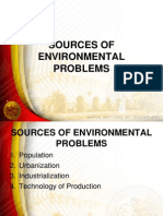Sources of Environmental Problems
