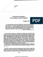 Hodgson, Economic Evolution - Intervention Contra Pangloss