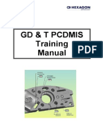 GdT Pcdmis Training Manual _Issue 1