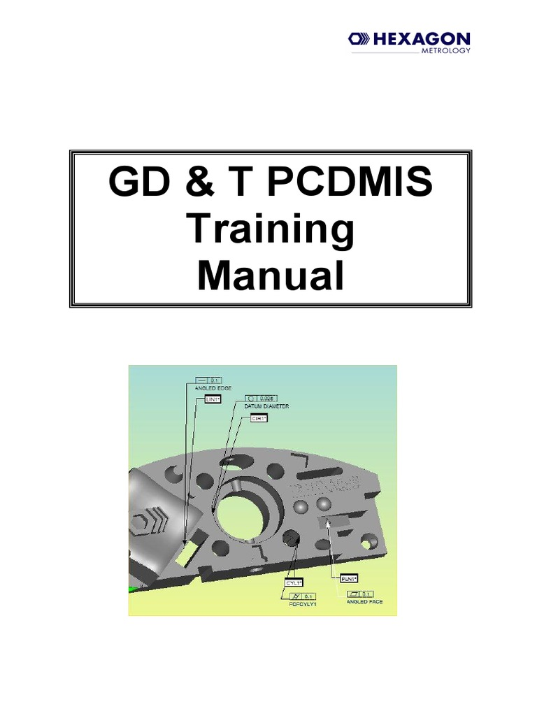 GdT Pcdmis Training Manual _Issue 1 | Engineering Tolerance | Cartesian  Coordinate System