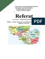 Analiza Comparativa a Nivelului Fiscalitatii in Republica Moldova Si Alte State.