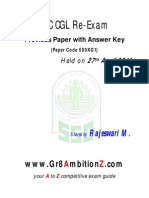 SSC CGL2013 Re Exam Paper Gr8AmbitionZ