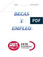 Boletín de Becas y Empleo. Semana Del 5 de Mayo de 2014