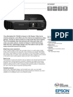 Epson EH-TW490 3LCD HD Gaming / Home Theatre Projector