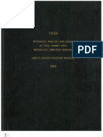 Integrated Analysis and Design of Steel Frames With Interactive Graphics, PhD Thesis, Cornell University, 1984.