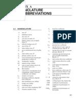 Appendix a Nomenclature and Abbreviations