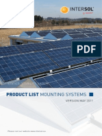 Intersol Mounting Systems Product List