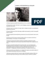 50 Razones Para Amar a Wittgenstein Por Roland Jaccard