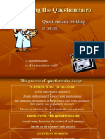 Designing a Questionaire