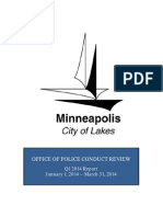 Minneapolis Office of Police Conduct Review  Jan 2014 - Mar 31 2014 Q1 Report