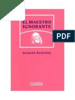 El Maestro Ignorante - Ranciere Jacques
