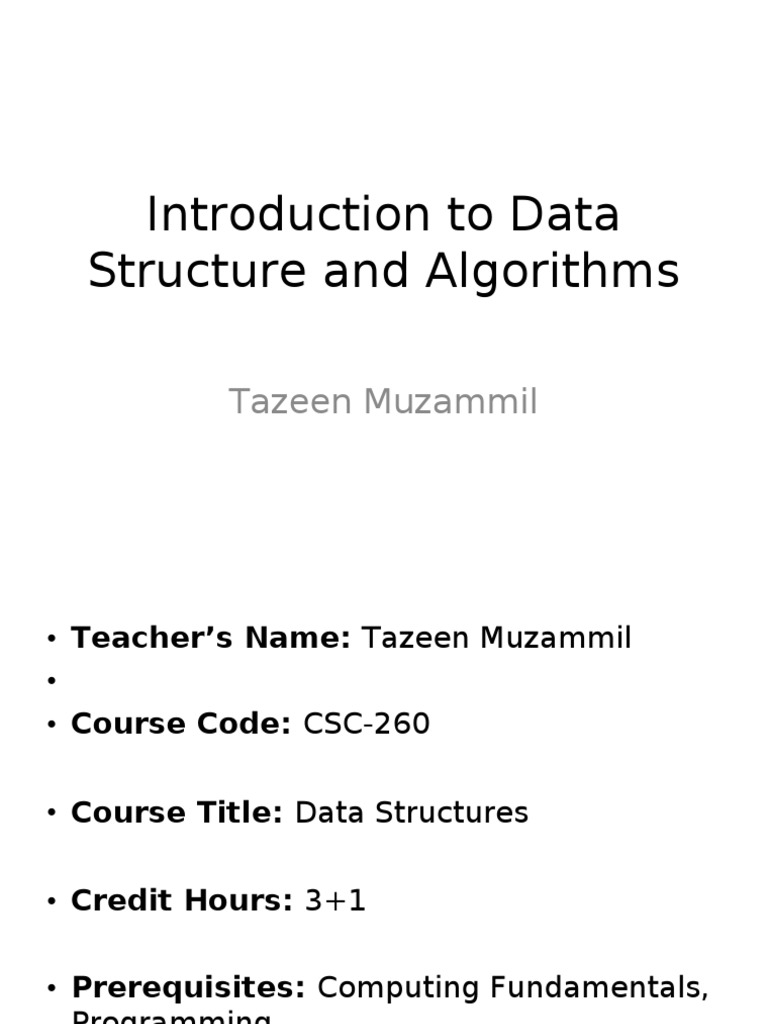 lec1 introduction to data structure and algorithms time complexity