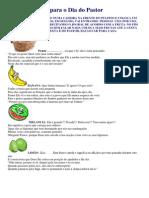Peça Das Frutas Para o Dia Do Pastor