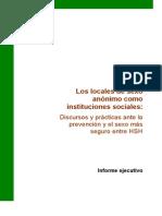 Los Locales de Sexo Anonimo Como Instituciones Sociales