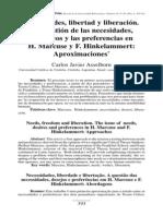 Asselborn - Necesidades, Libertad y Liberación. La Cuestión de Las Necesidades, Los Deseos y Las Preferencias en H. Marcuse y F. Hinkelammert