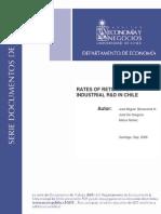 Benavente, De Gregorio, y Nuñez (2005) Rates of Return and the Industrial R&D in Chile