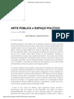 Arte Pública e Espaço Político _ Cesarfloriano