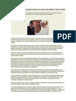 23-04-2014 Diario Vaticano - Francisco Tiene Un Nuevo Secretario. Quien Habla Árabe - SANDRO MAGISTER
