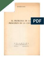 Eduardo Nicol El Problema de Los Principios de La Ciencia