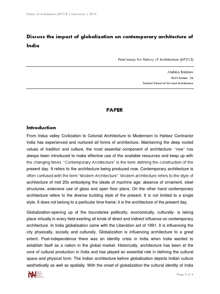 essay about globalization essays on globalization the impact of  impact of globalization on contemporary architecture