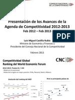 2013 02 21 PPT Avances Agenda Competitividad Publica - Final