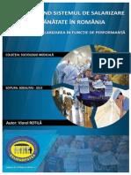 Studiu Privind Salarizarea Din Sistemul Sanitar