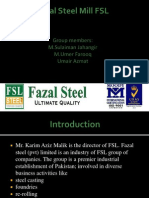 Ppt of Fazal Steel