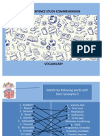 50264094 Sentence Study Comprehension Vocabulary