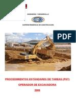 Procedimientos Operador de Excavadora