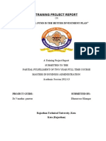 UTI Asset Management Company Ltd - Summer Internship Report on Mutual Fund is the Better Investment Plan