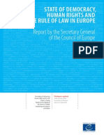State of Democracy, Human Rights and the Rule of Law in Europe