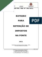 Instrucao 002-2011-Roteiro Retencao Impostos