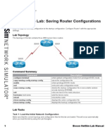 4.- Saving Router Configurations 4