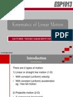 Kinematics of Line.ar Motion