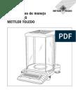 Manual Balanza Mettler