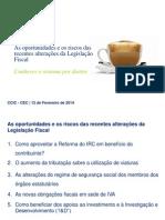 Apresentação CEC 12 Fevereiro 2014